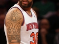 Dec 2, 2012; New York, NY, USA; New York Knicks forward/center Rasheed Wallace leaves the court after being ejected during the first quarter against the Phoenix Suns at Madison Square Garden.  Mandatory Credit: Anthony Gruppuso-US PRESSWIRE